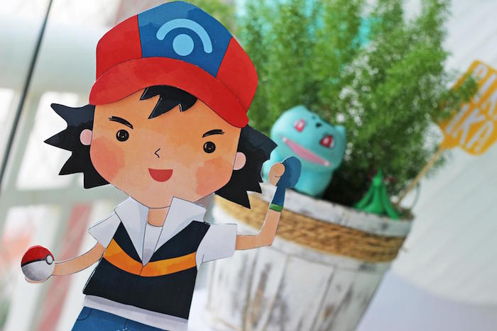 Ash Standee from a Pokemon Birthday Party on Kara's Party Ideas | KarasPartyIdeas.com (8)