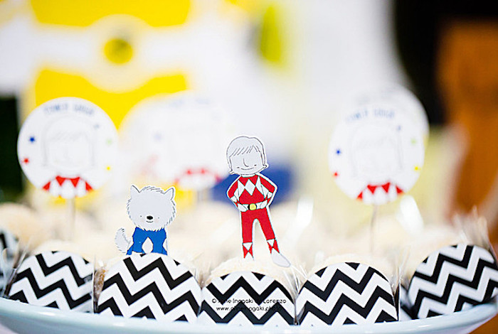 Power Ranger Truffles from a Power Rangers Birthday Party on Kara's Party Ideas | KarasPartyIdeas.com (11)