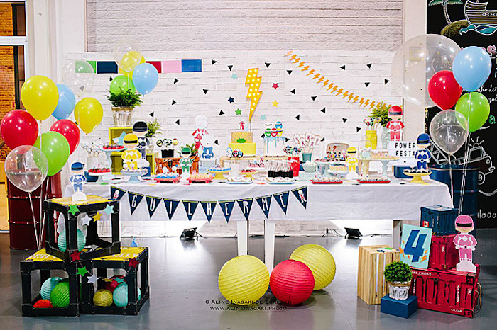 Power Rangers Birthday Party on Kara's Party Ideas | KarasPartyIdeas.com (9)
