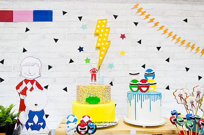 Power Rangers Cake Table from a Power Rangers Birthday Party on Kara's Party Ideas | KarasPartyIdeas.com (8)