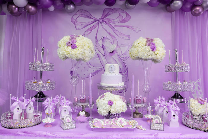 Ballerina Dessert Table from a Purple Ballerina Birthday Party on Kara's Party Ideas | KarasPartyIdeas.com (10)