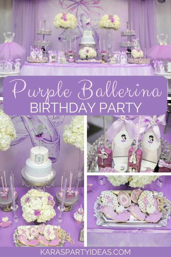 Purple Ballerina Birthday Party