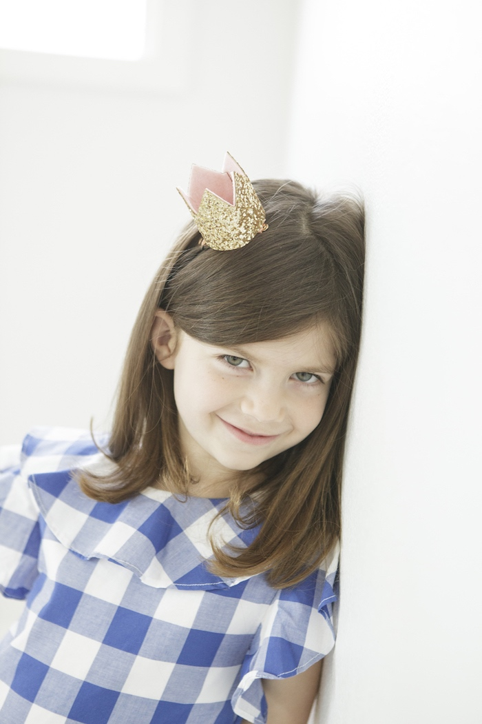 Gold Glitter Crown from a Queen of Hearts Birthday Tea Party on Kara's Party Ideas | KarasPartyIdeas.com (6)
