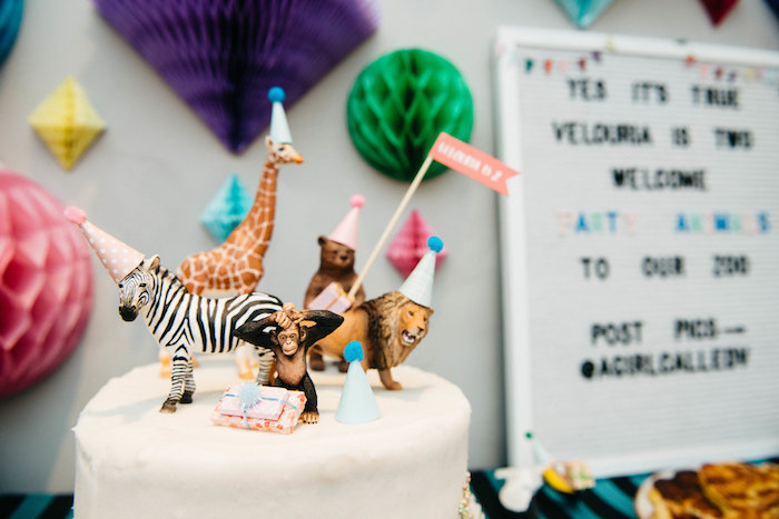 Wild Animal Cake Toppers from a Rock 'n Roll Animal Birthday Party on Kara's Party Ideas | KarasPartyIdeas.com (22)