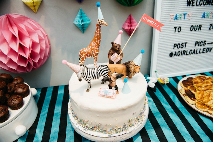 Wild Animal Cake from a Rock 'n Roll Animal Birthday Party on Kara's Party Ideas | KarasPartyIdeas.com (20)