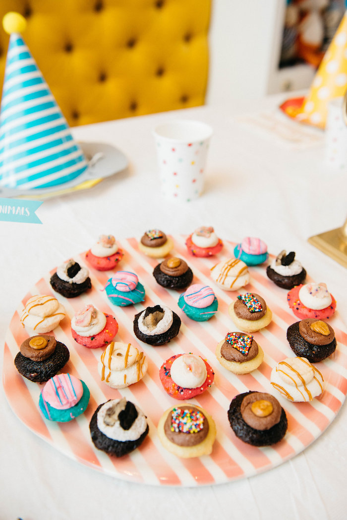 Cupcakes from a Rock 'n Roll Animal Birthday Party on Kara's Party Ideas | KarasPartyIdeas.com (18)