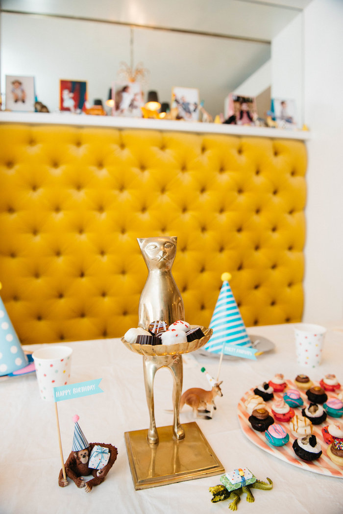Guest Table from a Rock 'n Roll Animal Birthday Party on Kara's Party Ideas | KarasPartyIdeas.com (17)