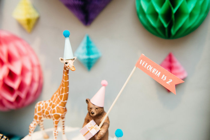 Animal Cake Toppers from a Rock 'n Roll Animal Birthday Party on Kara's Party Ideas | KarasPartyIdeas.com (12)