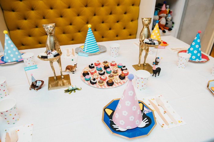 Guest Table from a Rock 'n Roll Animal Birthday Party on Kara's Party Ideas | KarasPartyIdeas.com (9)