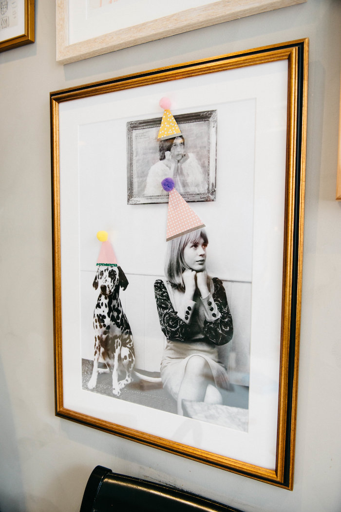 Party Hat-adorned Photo Frame from a Rock 'n Roll Animal Birthday Party on Kara's Party Ideas | KarasPartyIdeas.com (4)
