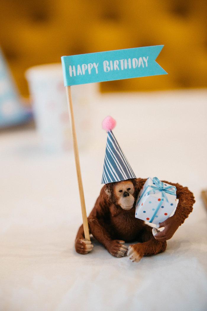 Orangutan Prop from a Rock 'n Roll Animal Birthday Party on Kara's Party Ideas | KarasPartyIdeas.com (28)