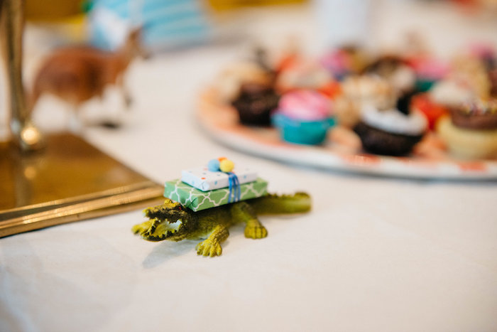 Gift-topped Crocodile from a Rock 'n Roll Animal Birthday Party on Kara's Party Ideas | KarasPartyIdeas.com (27)