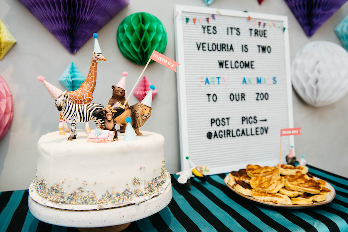 Cake from a Rock 'n Roll Animal Birthday Party on Kara's Party Ideas | KarasPartyIdeas.com (23)