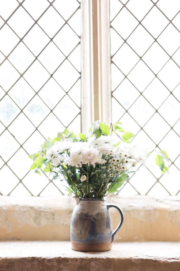 White Floral Arrangement from a Romantic Garden Wedding on Kara's Party Ideas | KarasPartyIdeas.com (27)