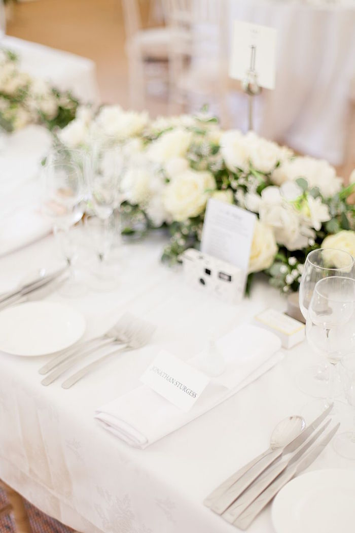 Guest Table Setting from a Romantic Garden Wedding on Kara's Party Ideas | KarasPartyIdeas.com (18)
