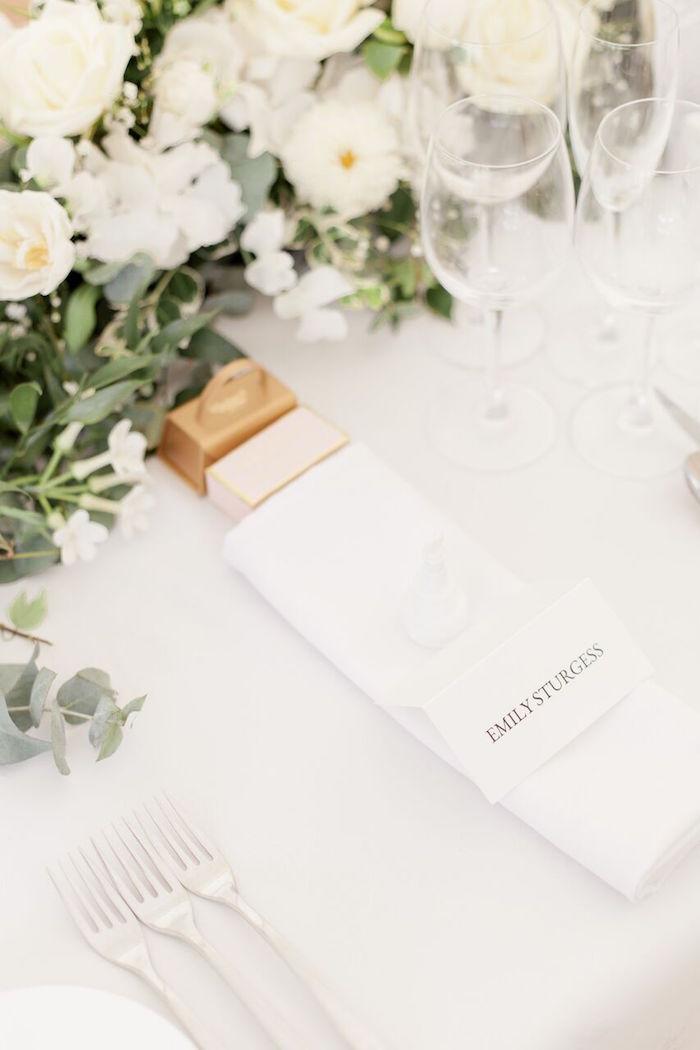 Table Setting from a Romantic Garden Wedding on Kara's Party Ideas | KarasPartyIdeas.com (17)