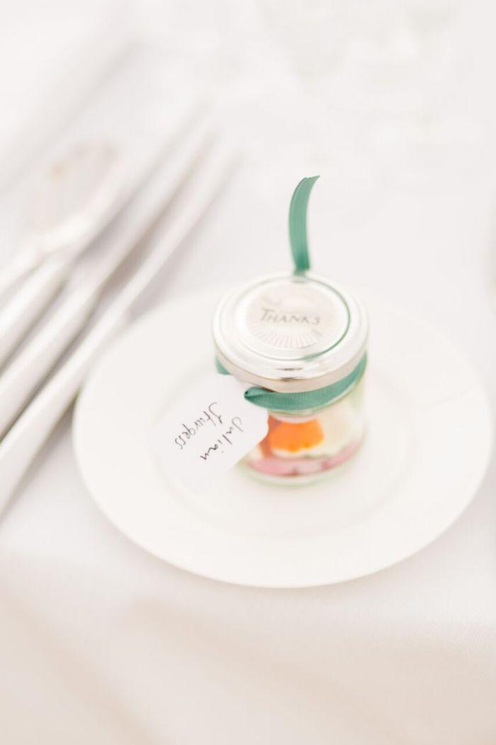 Favor Jar from a Romantic Garden Wedding on Kara's Party Ideas | KarasPartyIdeas.com (14)