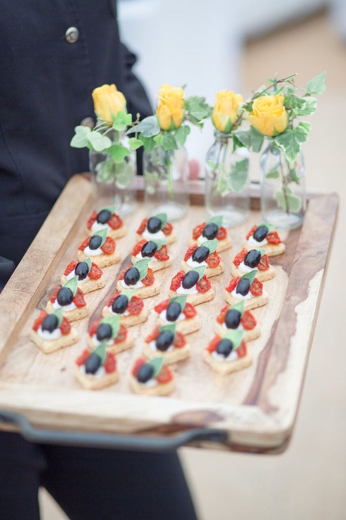 Food Tray from a Romantic Garden Wedding on Kara's Party Ideas | KarasPartyIdeas.com (13)