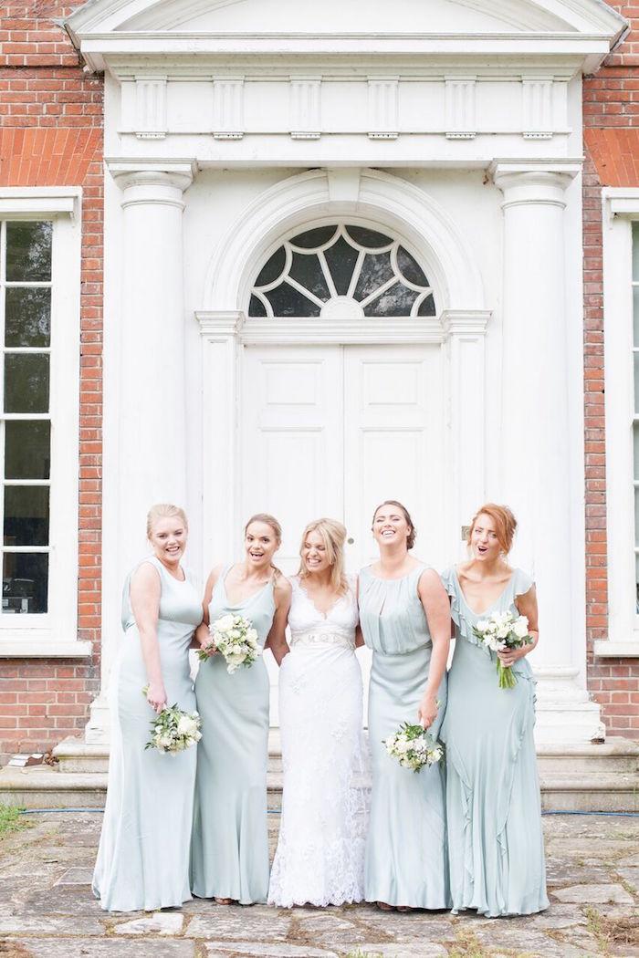 Bridesmaids from a Romantic Garden Wedding on Kara's Party Ideas | KarasPartyIdeas.com (11)