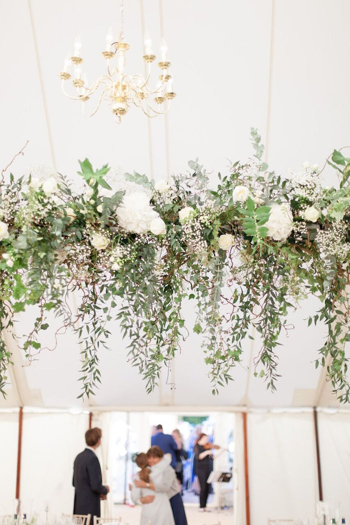 White Bloom Installation from a Romantic Garden Wedding on Kara's Party Ideas | KarasPartyIdeas.com (8)
