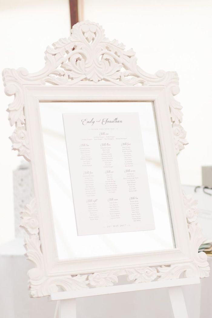 Seating Chart from a Romantic Garden Wedding on Kara's Party Ideas | KarasPartyIdeas.com (6)
