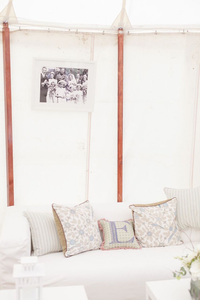 "His & ""Her"" Lounge from a Romantic Garden Wedding on Kara's Party Ideas | KarasPartyIdeas.com (5)"