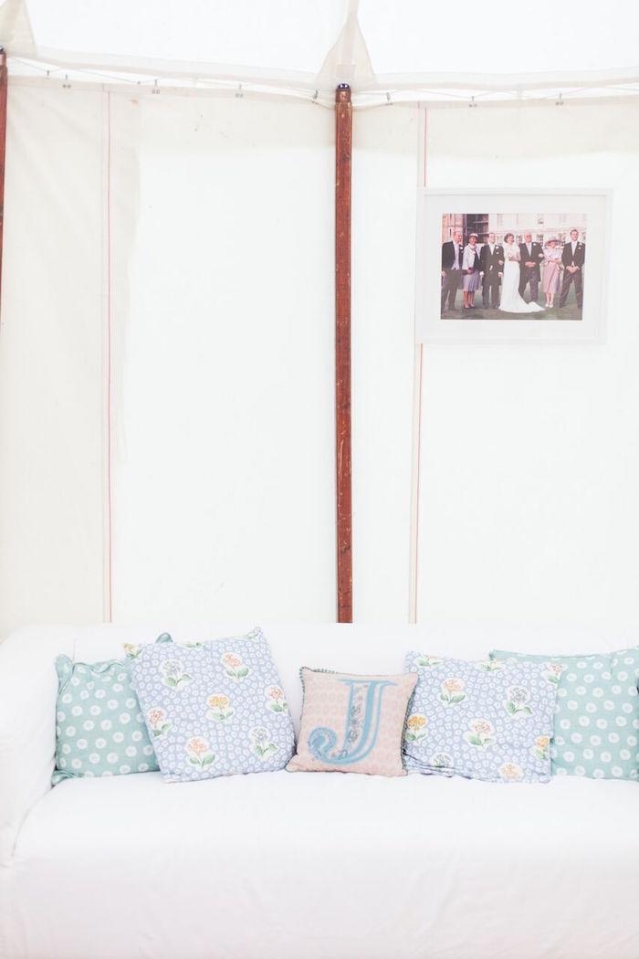 """His"" & Her Lounge from a Romantic Garden Wedding on Kara's Party Ideas | KarasPartyIdeas.com (4)"