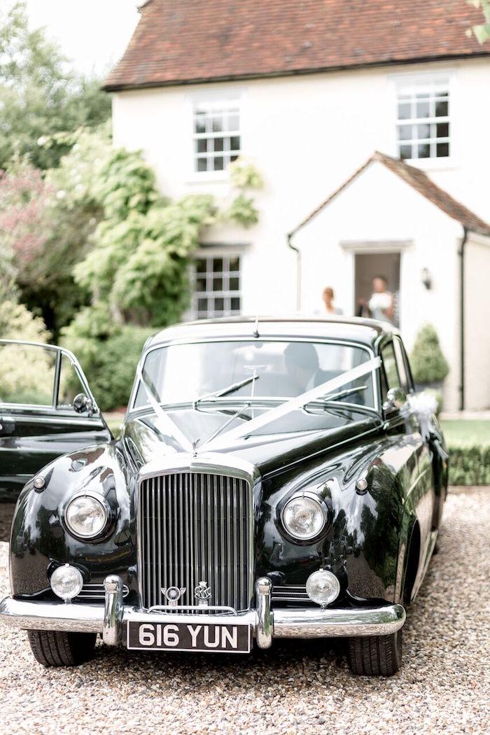 Vintage Bentley from a Romantic Garden Wedding on Kara's Party Ideas | KarasPartyIdeas.com (32)