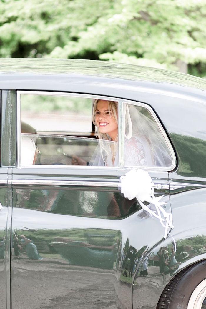 Bride Arrival from a Romantic Garden Wedding on Kara's Party Ideas | KarasPartyIdeas.com (31)
