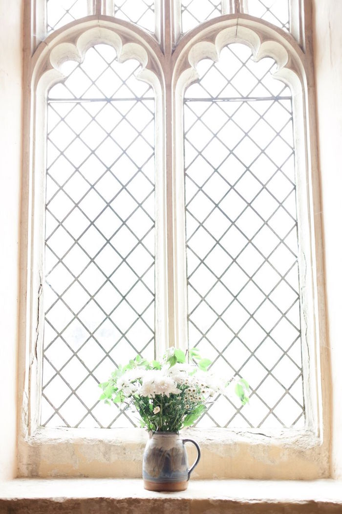 White Floral Arrangement from a Romantic Garden Wedding on Kara's Party Ideas | KarasPartyIdeas.com (28)