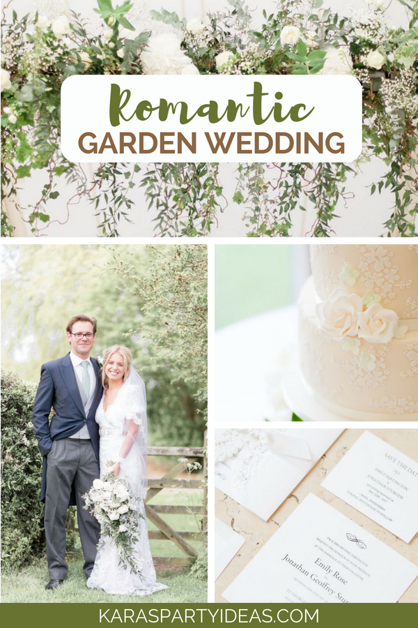 Romantic Garden Wedding via Kara's Party Ideas - KarasPartyIdeas.com