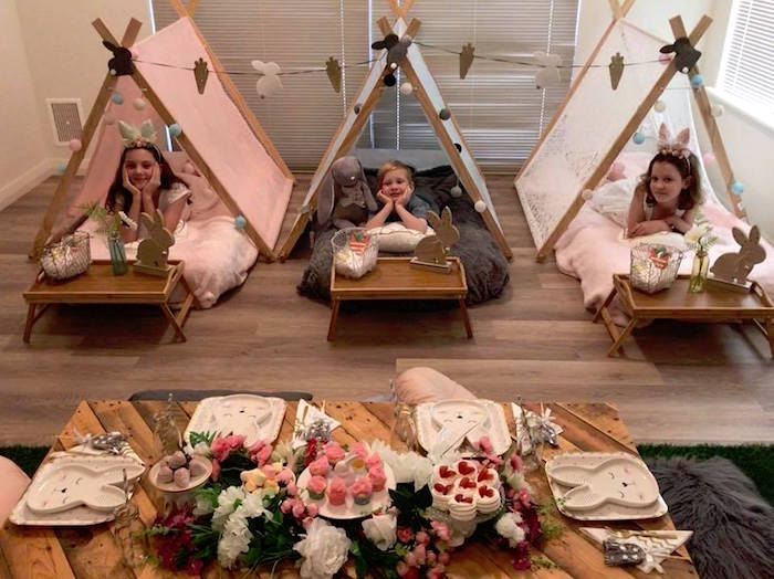Rustic Bunny Sleepover Party on Kara's Party Ideas | KarasPartyIdeas.com (4)