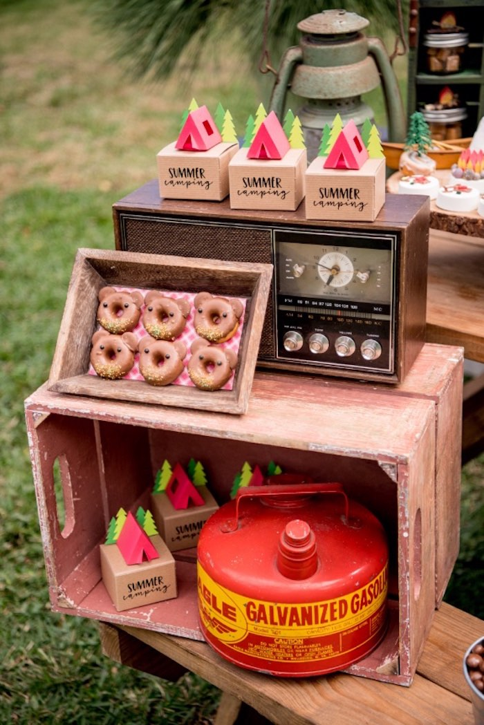 Details from a Rustic Camping Birthday Party on Kara's Party Ideas | KarasPartyIdeas.com (26)