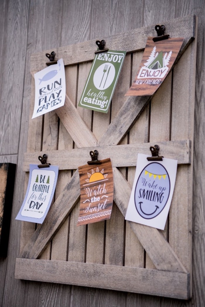 Clipboard from a Rustic Camping Birthday Party on Kara's Party Ideas | KarasPartyIdeas.com (25)