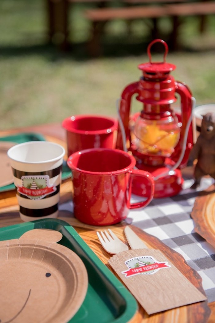 Red Mugs from a Rustic Camping Birthday Party on Kara's Party Ideas | KarasPartyIdeas.com (22)