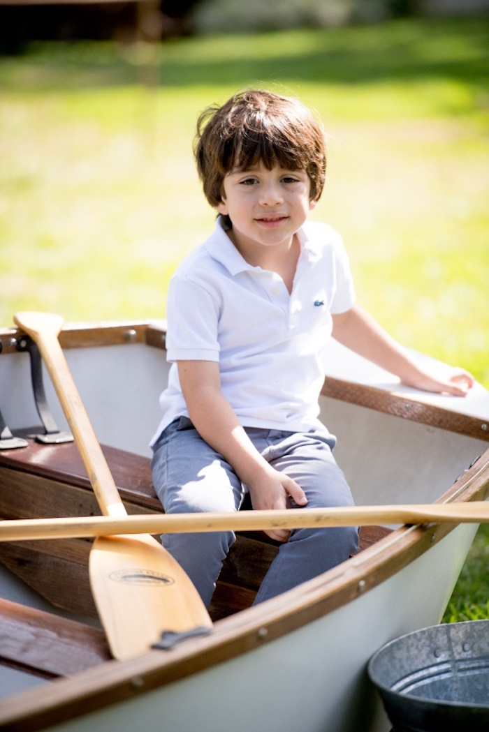 Boat from a Rustic Camping Birthday Party on Kara's Party Ideas | KarasPartyIdeas.com (16)