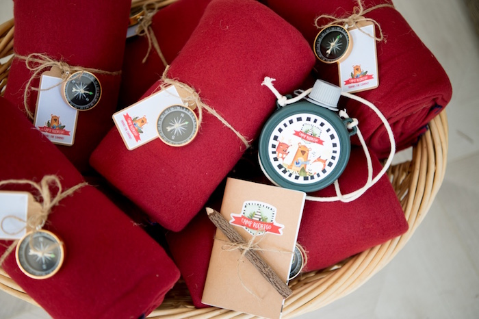 Camper Favors from a Rustic Camping Birthday Party on Kara's Party Ideas | KarasPartyIdeas.com (7)