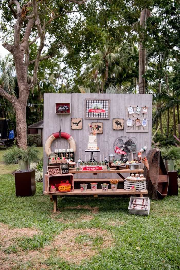 Rustic Camping Birthday Party on Kara's Party Ideas | KarasPartyIdeas.com (36)