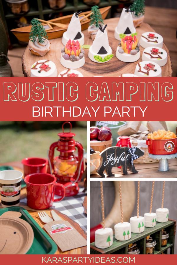 Rustic Camping Birthday Party via KarasPartyIdeas - KarasPartyIdeas.com