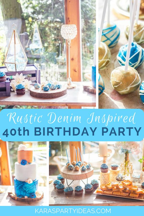 Rustic Denim Inspired 40th Birthday Party via Kara_s Party Ideas - KarasPartyIdeas.com