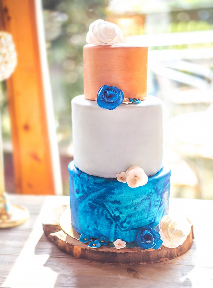 Denim-inspired Cake from a Rustic Denim Inspired 40th Birthday Party on Kara's Party Ideas | KarasPartyIdeas.com (11)