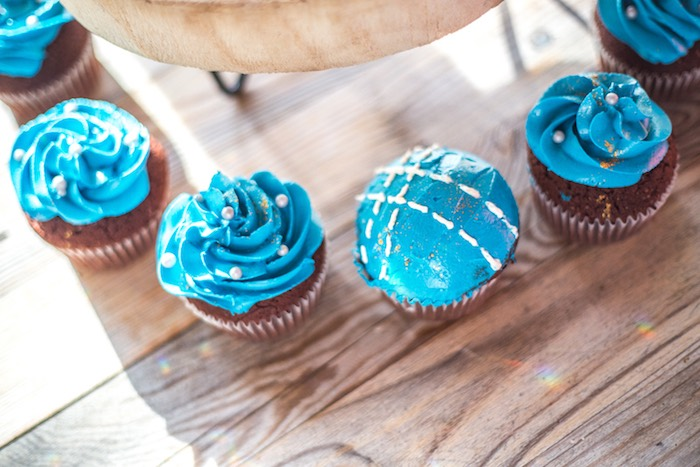 Denim-inspired Cupcakes from a Rustic Denim Inspired 40th Birthday Party on Kara's Party Ideas | KarasPartyIdeas.com (10)