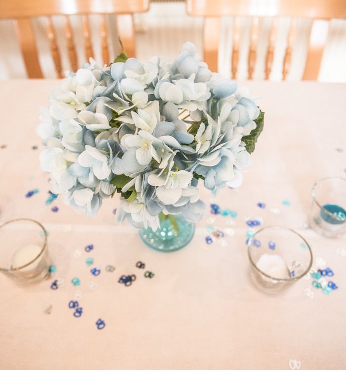Guest Tables + Blooms from a Rustic Denim Inspired 40th Birthday Party on Kara's Party Ideas | KarasPartyIdeas.com (5)