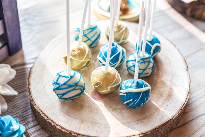 Cake Pops from a Rustic Denim Inspired 40th Birthday Party on Kara's Party Ideas | KarasPartyIdeas.com (16)