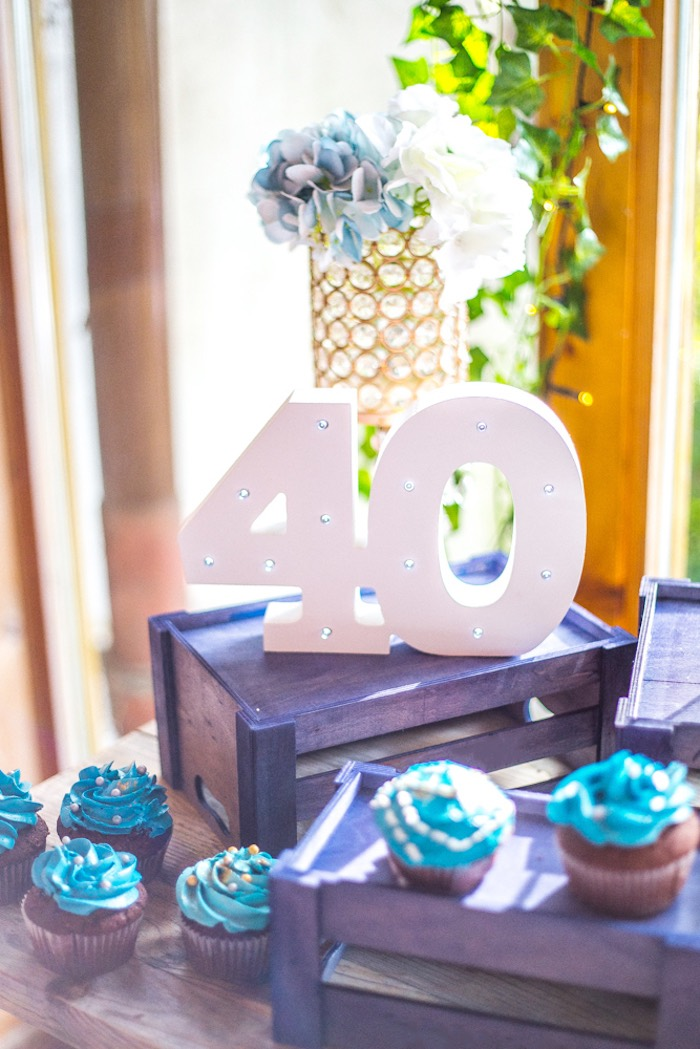 Ideas 40 Marquee Lights From A Rustic Denim Inspired 40th Birthday Party On Karas