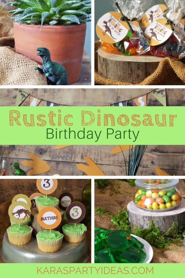 Rustic Dinosaur Birthday Party via KarasPartyIdeas - KarasPartyIdeas.com