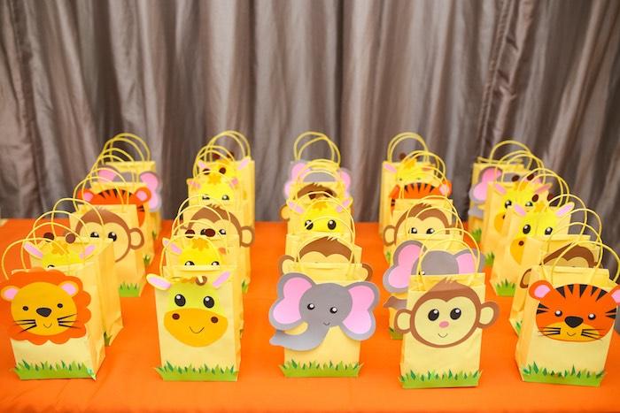 Safari Favor Bags from a Safari Animal Birthday Party on Kara's Party Ideas | KarasPartyIdeas.com (4)