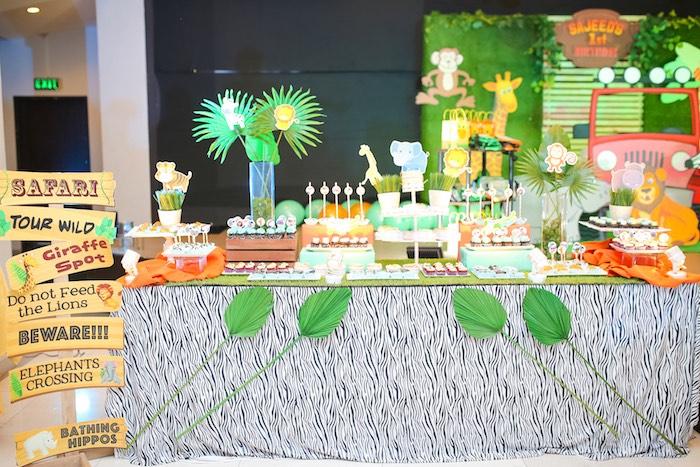 Safari Themed Dessert Table from a Safari Animal Birthday Party on Kara's Party Ideas | KarasPartyIdeas.com (22)