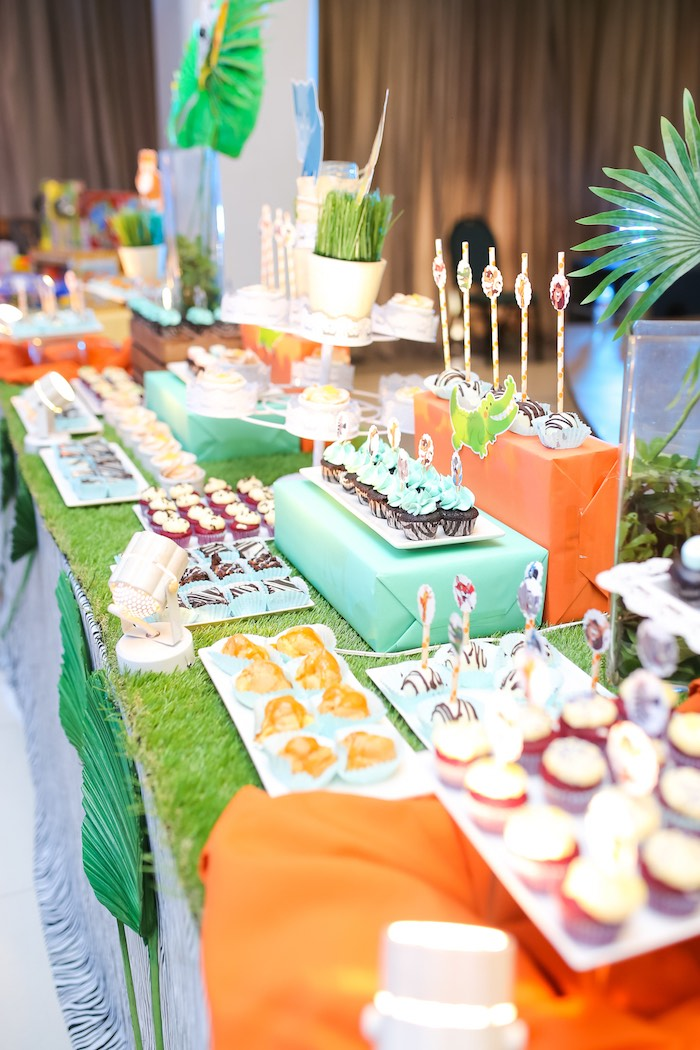 Safari Themed Dessert Table from a Safari Animal Birthday Party on Kara's Party Ideas | KarasPartyIdeas.com (21)