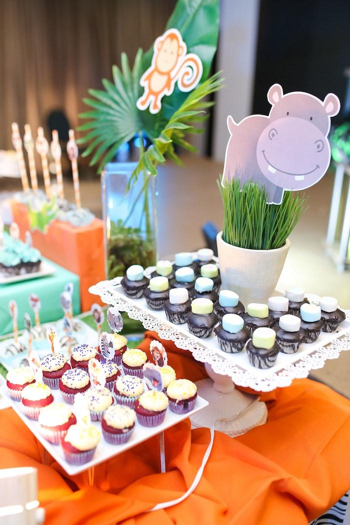 Safari Themed Dessert Table from a Safari Animal Birthday Party on Kara's Party Ideas | KarasPartyIdeas.com (20)